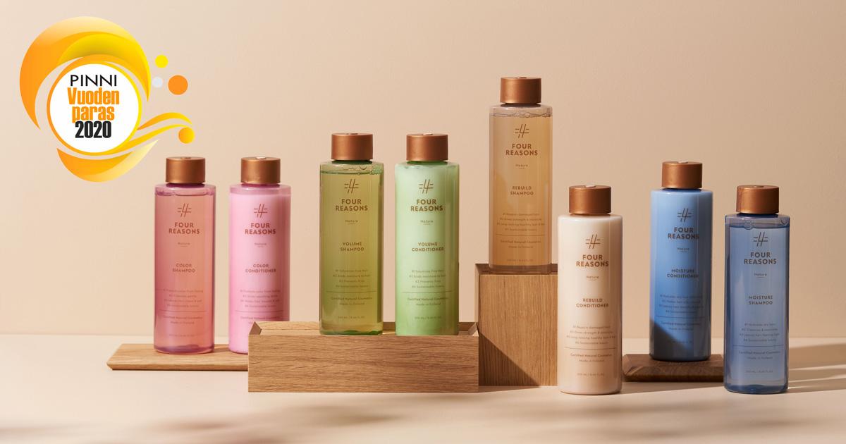 Vuoden parhaana hiustuoteinnovaationa palkittu Four Reasons Nature: kotimaista ekokosmetiikkaa